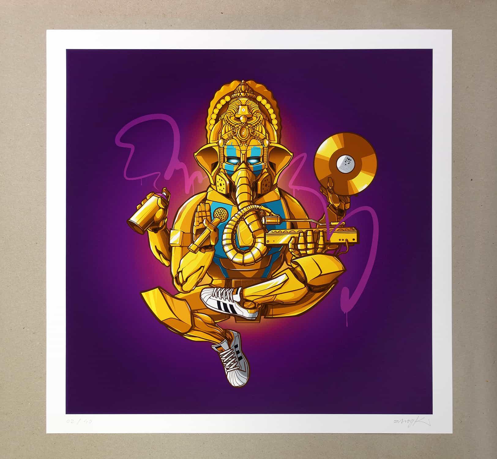 Hip Hop Ganesha Graffiti